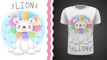 Netter Löwe - Idee für Druckt-shirt. vektor