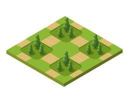 Isometrisk 3D-set park vektor