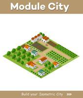 Isometrisk vektor natur landsbygden