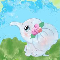 Gullig baby elefant