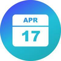 17 april Datum på en enkel dagskalender