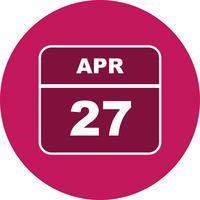 27. April Datum an einem Tageskalender