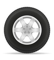 bilhjulsdäck från skivvektorillustrationen vektor