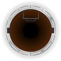öppen kloak pit vektor illustration