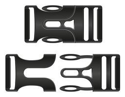 Plastikschnallenverschlussvektorillustration vektor