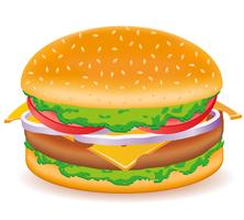Cheeseburger-Vektor-Illustration vektor