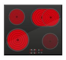 Oberfläche für elektrische induktive Ofenvektorillustration