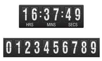 Anzeigetafel Countdown-Timer-Vektor-Illustration vektor