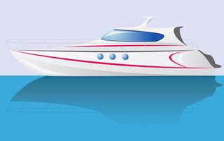 white speed yacht