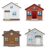 litet hus hus vektor illustration