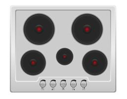 Oberfläche für elektrische Ofenvektorillustration