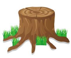Stumpf-Vektor-Illustration
