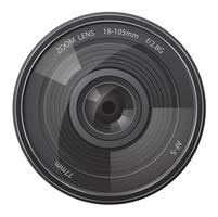 Objektiv Foto Kamera Vektor-Illustration