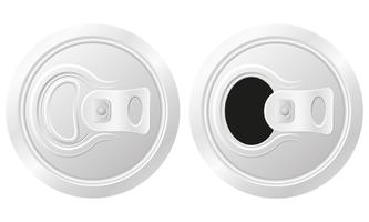 geschlossene und offene Dose Bier-Vektor-Illustration