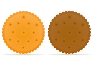 knusprige Keksplätzchen-Vektorillustration