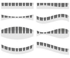 Klaviertasten für verschiedene Formen der Designvektorillustration