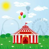 cirkus tält på naturen