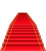 Vektorillustration des roten Teppichs
