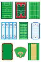 Felder für Sportspiele-Vektorillustration