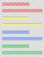 transparent färgad linjal vektor illustration