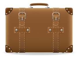 alter Koffer für Reisevektorillustration