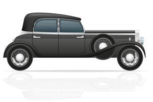 gammal retro bil vektor illustration