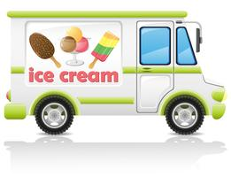 Auto mit Eiscreme-Vektor-Illustration