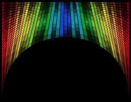 abstrakt mångfärgad grafisk equalizer vektor illustration