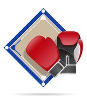 boxning ring vektor illustration