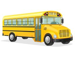 Schulbus-Vektor-Illustration vektor