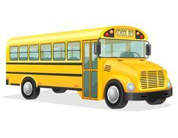 skolbuss vektor illustration