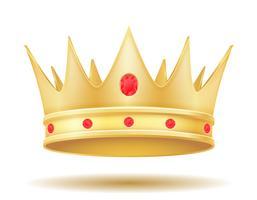 könig goldene krone vektorabbildung vektor