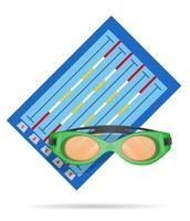 Schwimmbad-Vektor-Illustration