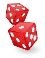 rote Casino-Würfel-Vektor-Illustration