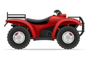 ATV-Motorrad auf vier Rädern weg von den Straßen vector Illustration