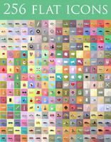 diverse uppsättning platt ikoner vektor illustration