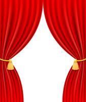 röd teater gardin vektor illustration