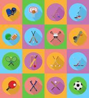 flache Ikonenillustration der Sportausrüstung