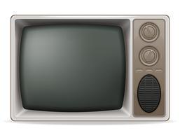 Weinleseikonenvorrat-Vektorillustration des Fernsehens alte vektor