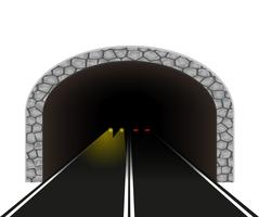 Automobil-Tunnel-Vektor-Illustration