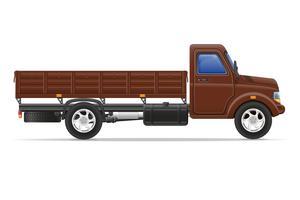 lastbil för transport av varor vektor illustration