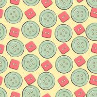 Nahtloser Hintergrund mit bunten Knöpfen. Vektor-Illustration
