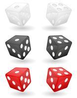 färgad casino tärning vektor illustration
