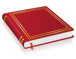 rotes Buch mit Lesezeichen-Vektor-Illustration