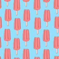 Seamless mönster med popsicle glass och ett horn i stil med doodle. Handritning.