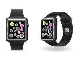 digitale intelligente Uhr mit Vektorillustration des Bildschirm- auf Lager