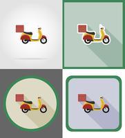 Ikonen-Vektorillustration des Lieferungsfahrzeugs flache vektor