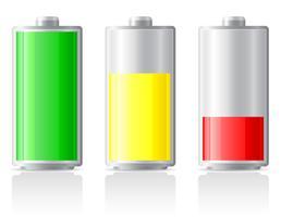 ikoner ladda batteri vektor illustration