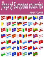 flaggor av europeiska länder flaticons vektor illustration