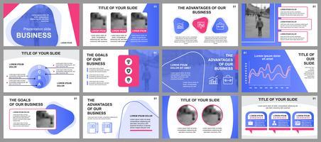 Geschäftspräsentation schiebt Vorlagen von infographic Elementen. Kann für Präsentationsvorlagen, Flyer und Prospekt, Broschüre, Unternehmensbericht, Marketing, Werbung, Jahresbericht, Banner verwendet werden.